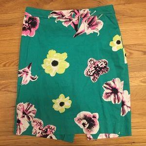 J. Crew Punk Floral Pencil Skirt